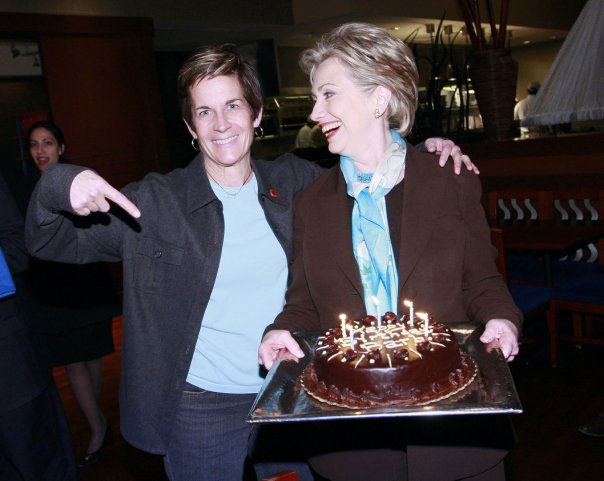 Barbara Kinney with Sec. Clinton