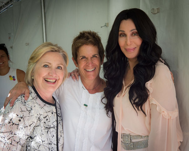 Barbara Kinney with Cher and Sec. Clinton