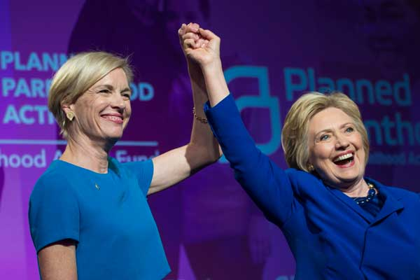 Barbara Kinney with Hillary Clinton