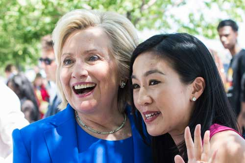 Michele Kwan with Hillary Clinton