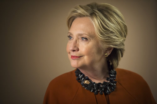 A portrait of Sec. Clinton taken on the campaign trail in North Carolina.