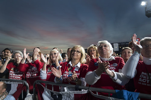 Members of Moms Demand Action for Gun Sense in America turned out to support Sec. Clinton at a campaign rally in Ohio.